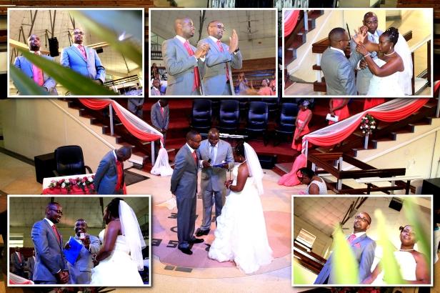 The joy inside the church as the ceremony kicks off.